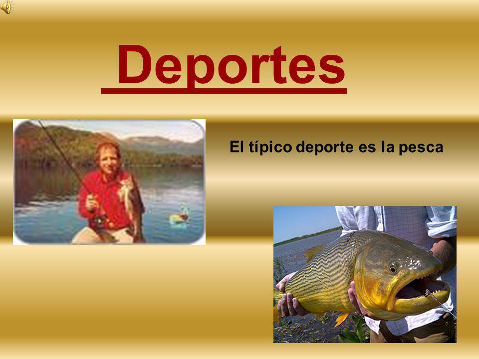 Deportes El típico deporte es la pesca