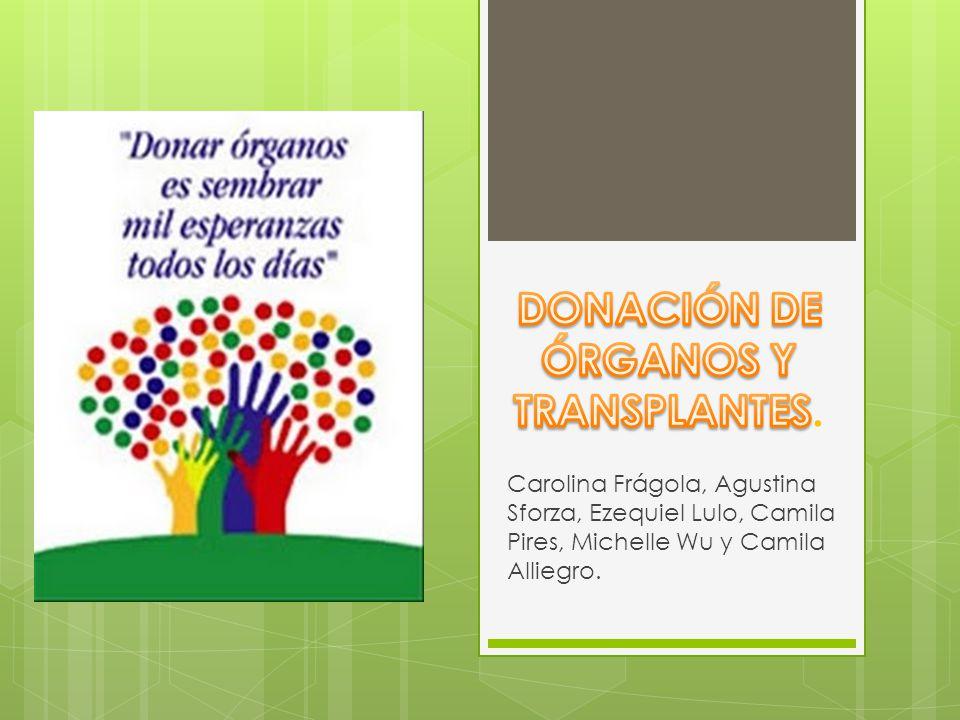 La donación, es la extracción de órganos y tejidos con fines de trasplante de una persona durante su vida o después de su donación.