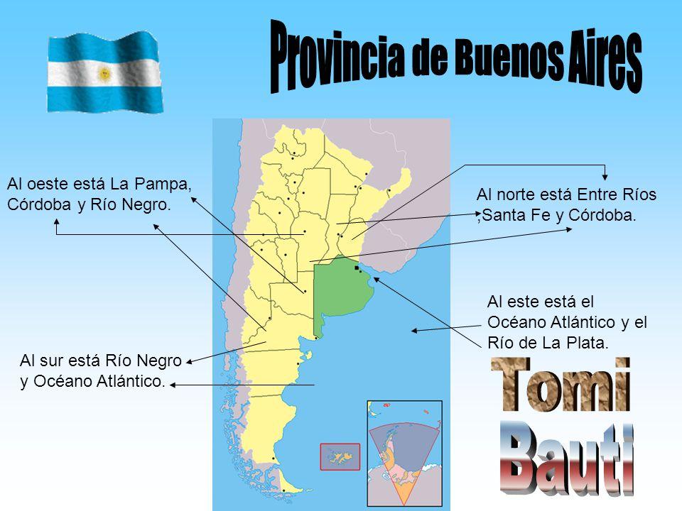 Al norte está Entre Ríos,Santa Fe y Córdoba. Al oeste está La Pampa, Córdoba y Río Negro. Al este está el Océano Atlántico y el Río de La Plata. Al su