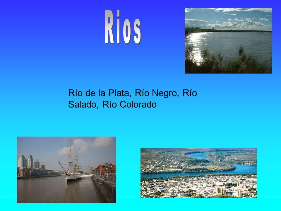 Río de la Plata, Río Negro, Río Salado, Río Colorado