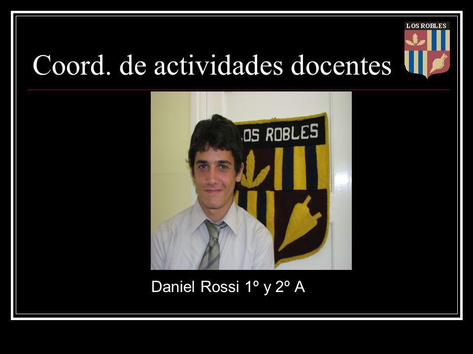 Coord. de actividades docentes Daniel Rossi 1º y 2º A