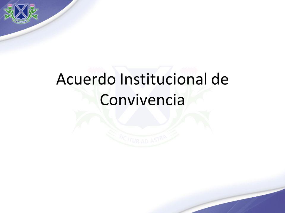 Acuerdo Institucional de Convivencia