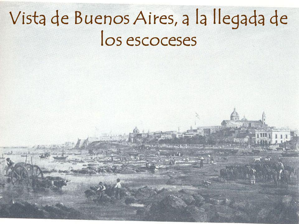 Vista de Buenos Aires, a la llegada de los escoceses