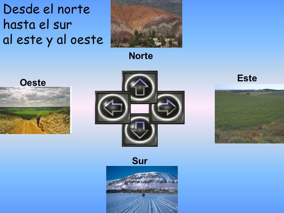 Desde el norte hasta el sur al este y al oeste Oeste Este Sur Norte