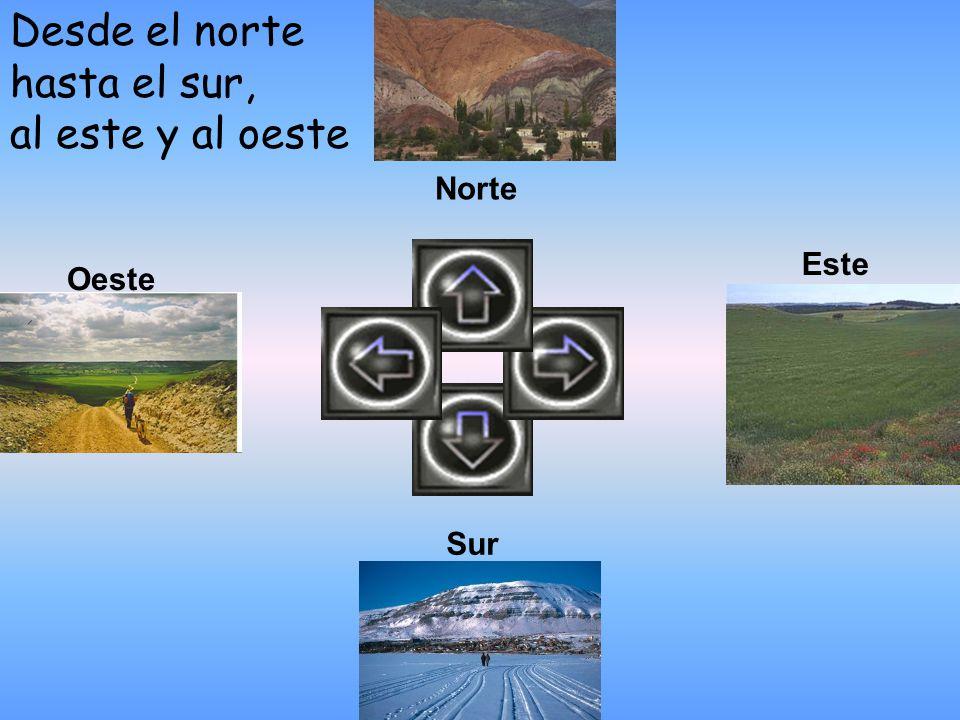Desde el norte hasta el sur, al este y al oeste Oeste Este Sur Norte