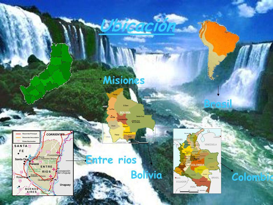 Ubicación Misiones Brasil Entre rios Colombia Bolivia