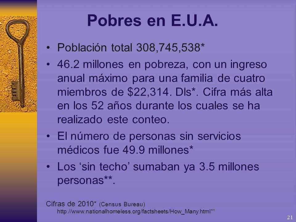 21 Pobres en E.U.A.