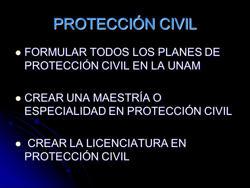 PROTECCIÓN CIVIL FORMULAR TODOS LOS PLANES DE PROTECCIÓN CIVIL EN LA UNAM FORMULAR TODOS LOS PLANES DE PROTECCIÓN CIVIL EN LA UNAM CREAR UNA MAESTRÍA