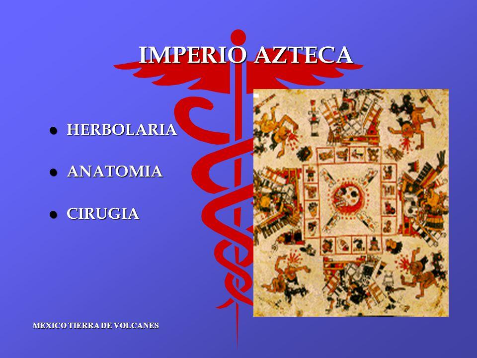 IMPERIO AZTECA l HERBOLARIA l ANATOMIA l CIRUGIA MEXICO TIERRA DE VOLCANES
