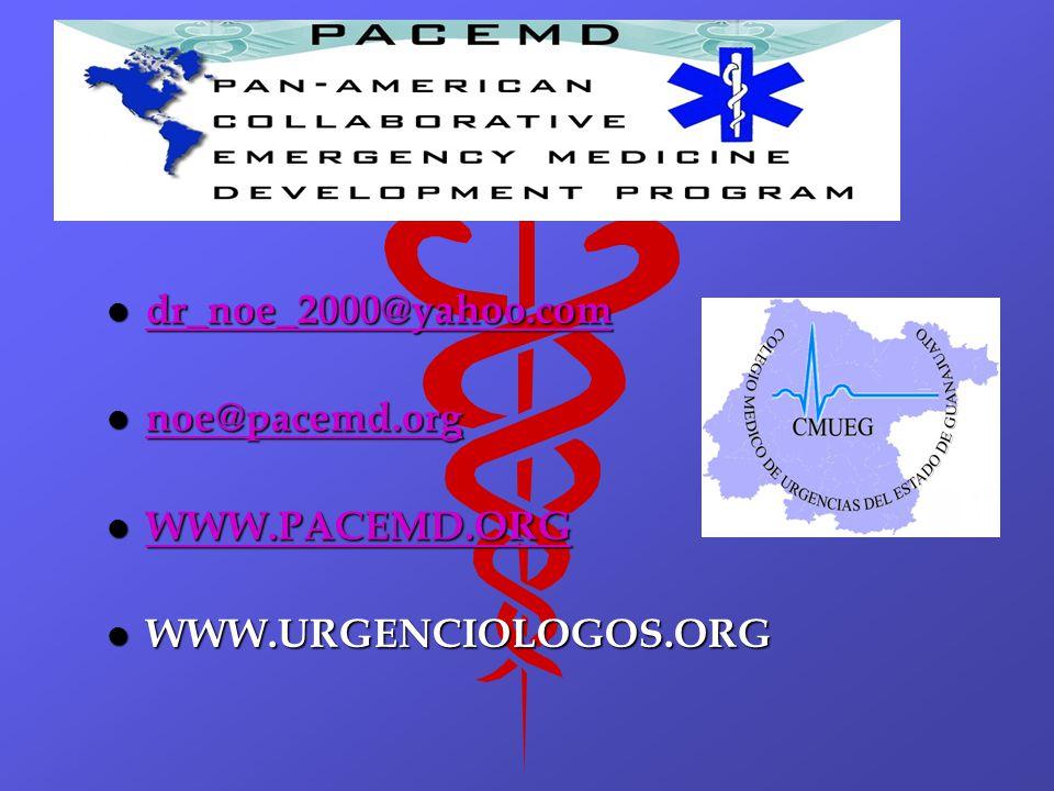 l dr_noe_2000@yahoo.com dr_noe_2000@yahoo.com l noe@pacemd.org noe@pacemd.org l WWW.PACEMD.ORG WWW.PACEMD.ORG l WWW.URGENCIOLOGOS.ORG