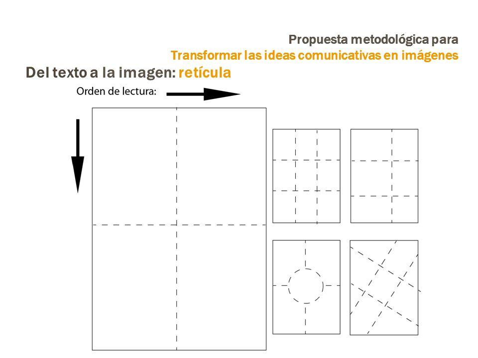 Propuesta metodológica para Transformar las ideas comunicativas en imágenes Del texto a la imagen: retícula