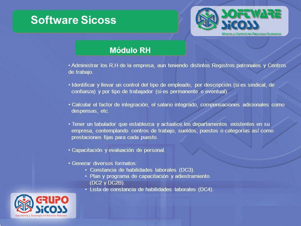 Software Sicoss Módulo SUA La Ley del Seguro Social obliga a los patrones a enterar de sus movimientos al IMSS, existiendo dos maneras de hacerlo, una