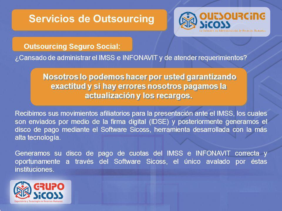 Administración de Personal Servicios de Outsourcing La plantilla de personal de su empresa está creciendo? Grupo Sicoss le brinda el servicio de admin