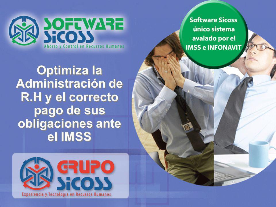 Software Sicoss En 1986 el GRUPO SICOSS diseñó un Software que garantiza a las Empresas el pago eficiente de la nómina, la administración del personal