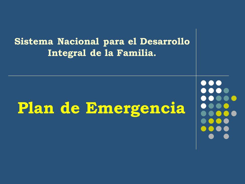 Plan de Emergencia Sistema Nacional para el Desarrollo Integral de la Familia.