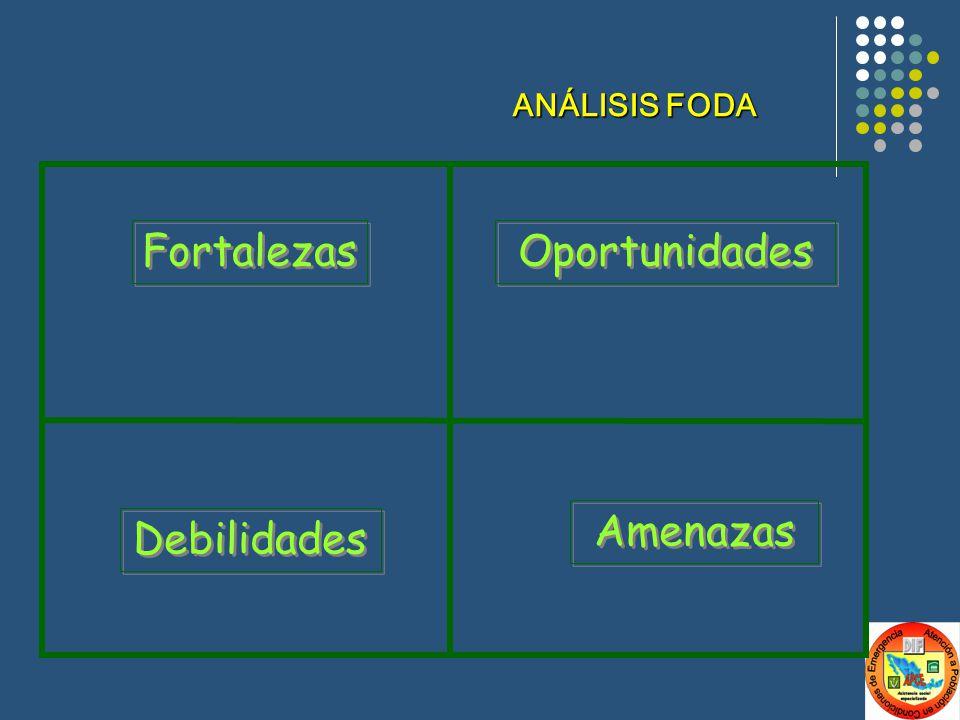 Fortalezas Oportunidades Debilidades Amenazas ANÁLISIS FODA