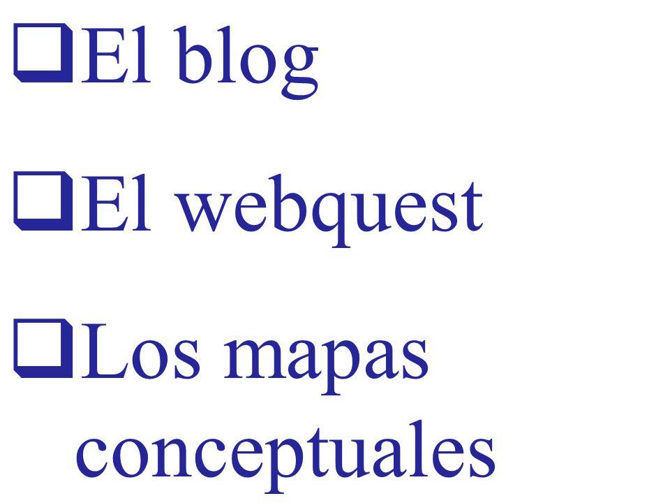 El blog El webquest Los mapas conceptuales