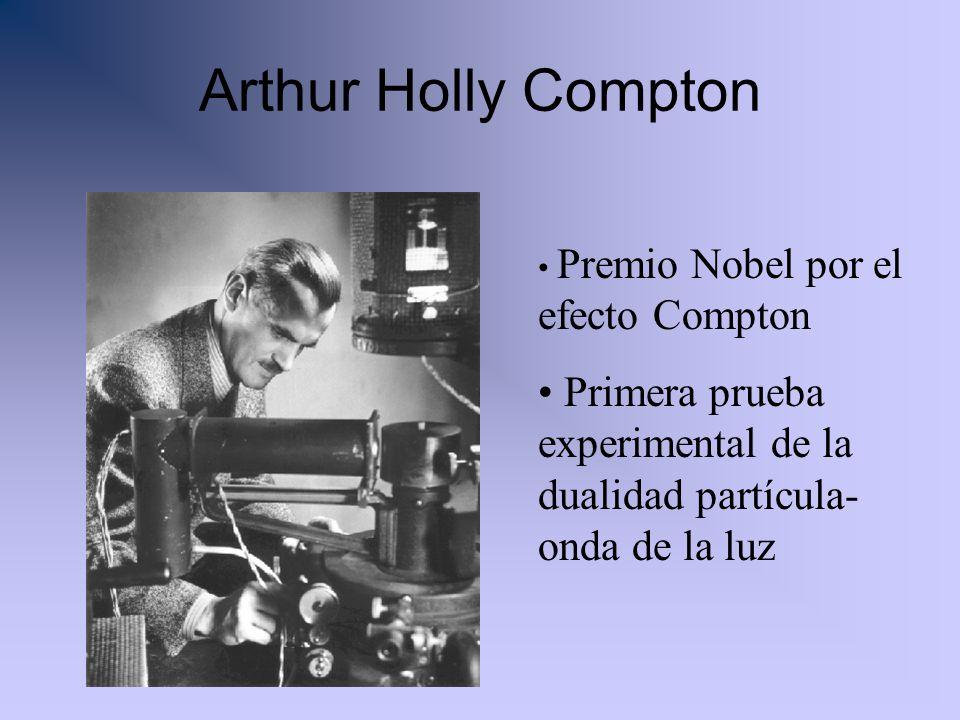 Arthur Holly Compton Premio Nobel por el efecto Compton Primera prueba experimental de la dualidad partícula- onda de la luz