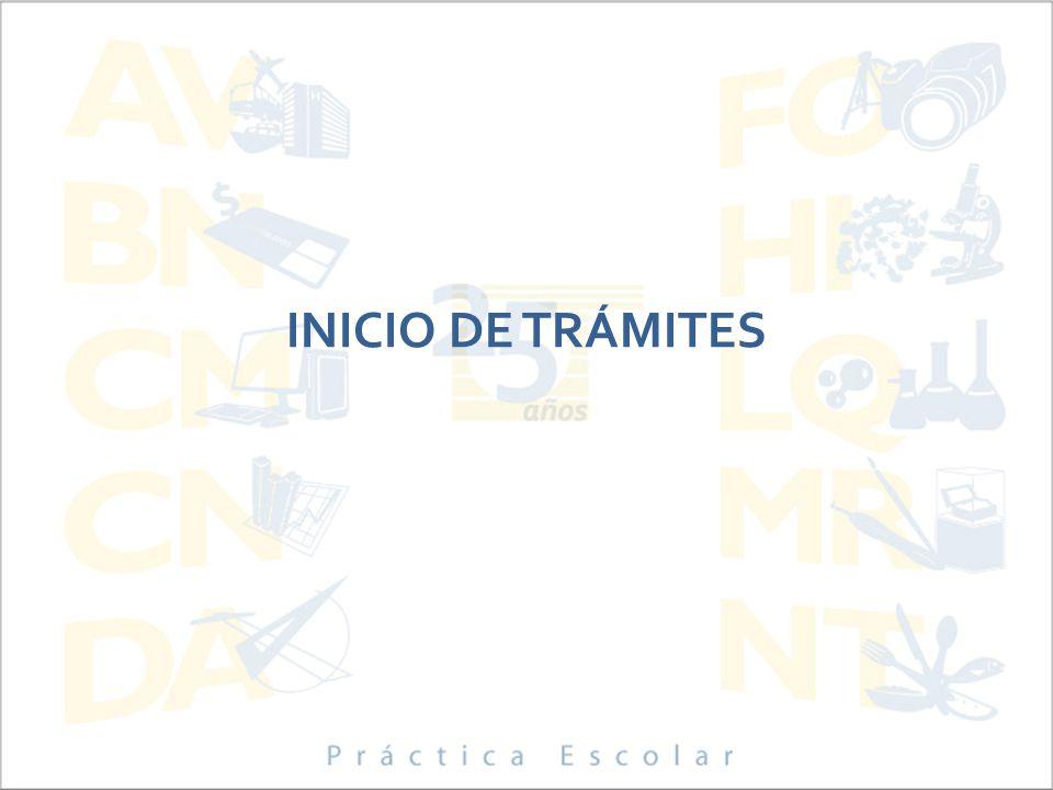 INICIO DE TRÁMITES