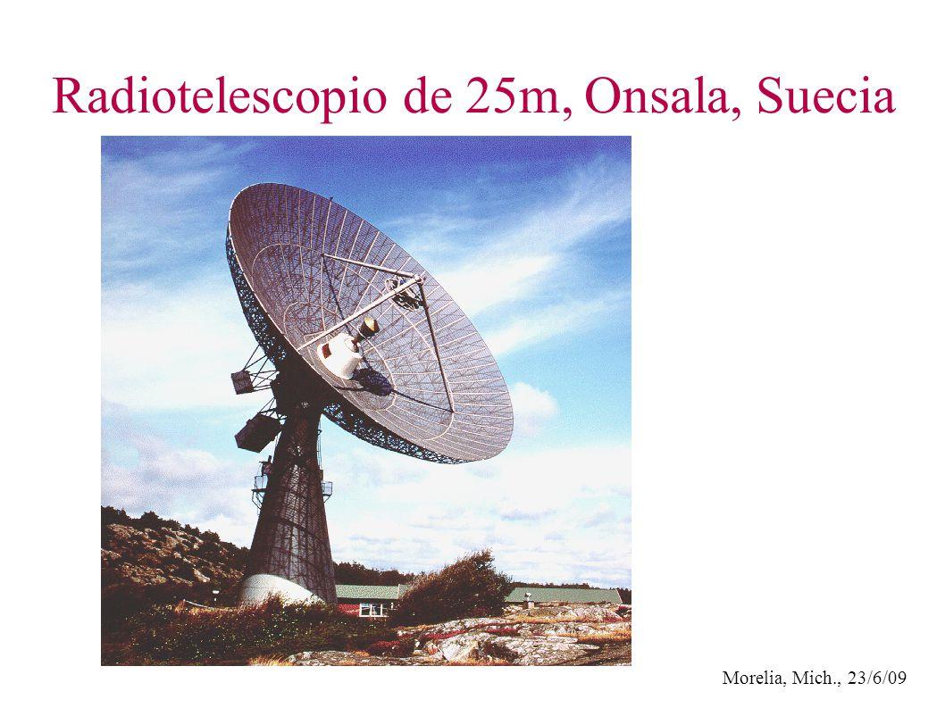 Morelia, Mich., 23/6/09 Radiotelescopio de 25m, Onsala, Suecia