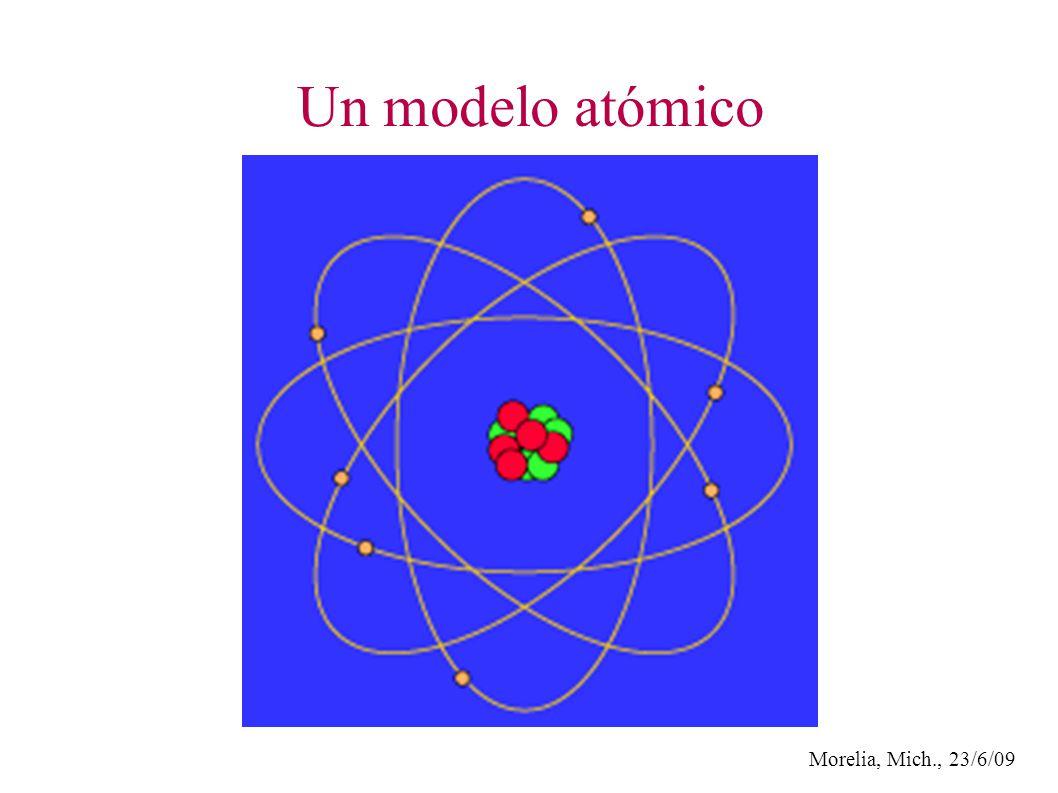 Morelia, Mich., 23/6/09 Un modelo atómico