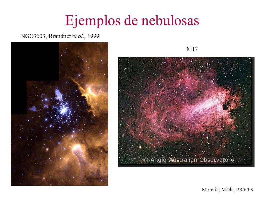 Morelia, Mich., 23/6/09 Ejemplos de nebulosas NGC3603, Brandner et al., 1999 M17