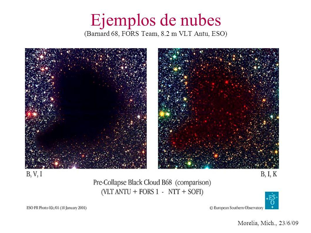 Morelia, Mich., 23/6/09 Ejemplos de nubes (Barnard 68, FORS Team, 8.2 m VLT Antu, ESO)