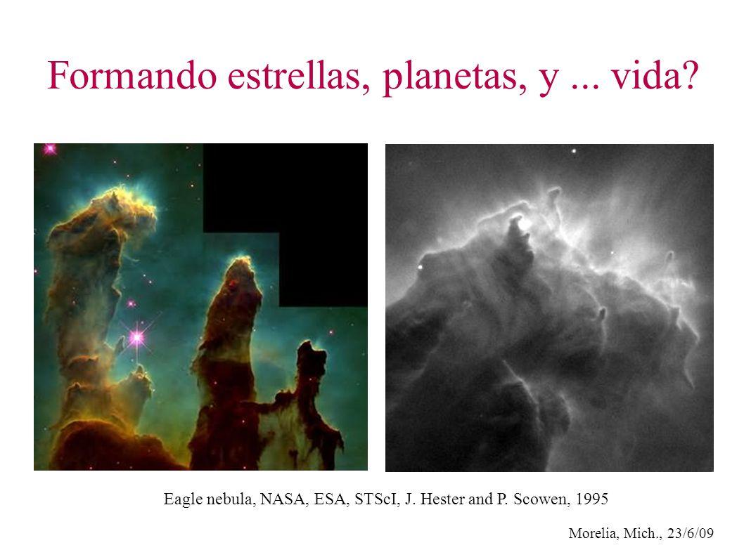 Formando estrellas, planetas, y... vida. Eagle nebula, NASA, ESA, STScI, J.