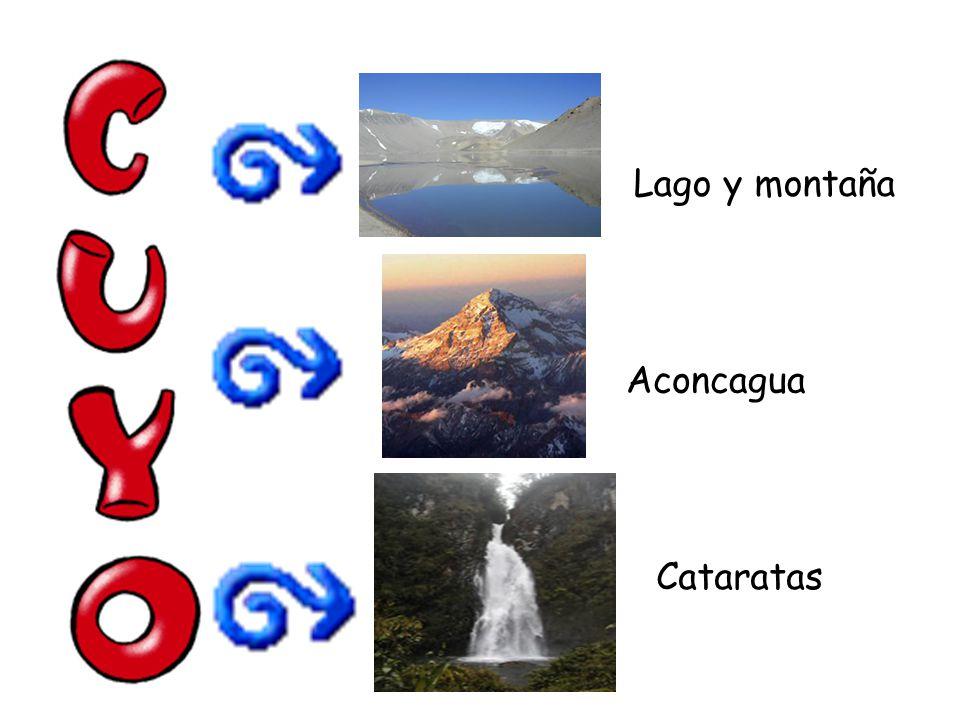 Aconcagua Lago y montaña Cataratas