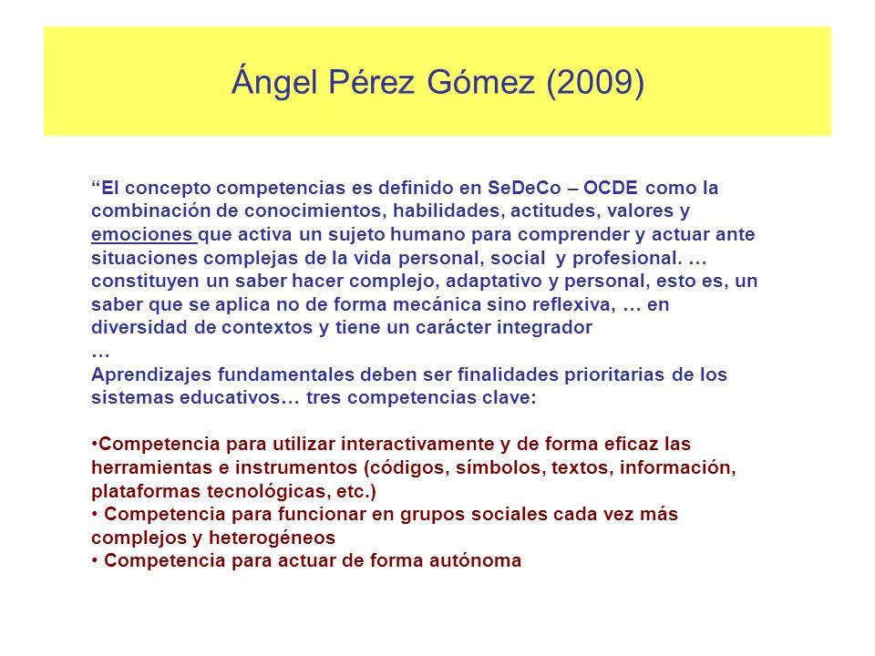 Componentes de una competencia en educación escolar (Allal, 2002) Componentes cognitivos: a) Diversos tipos de conocimientos - declarativos (saberes)