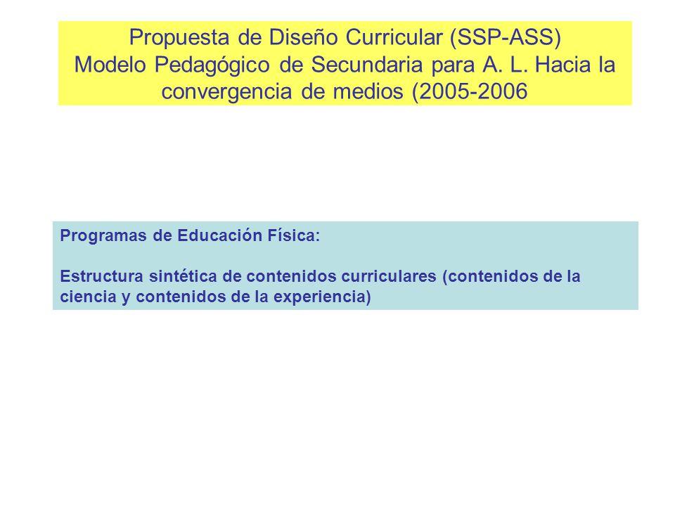 La estructura por áreas-asignaturas La organización del conocimiento escolar en este currículum, en tanto áreas- asignaturas, se plantea como una alte