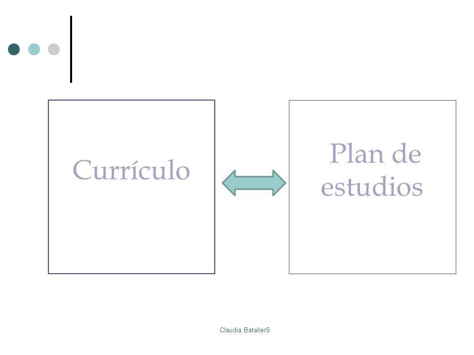 Currículo Plan de estudios Claudia BatallerS