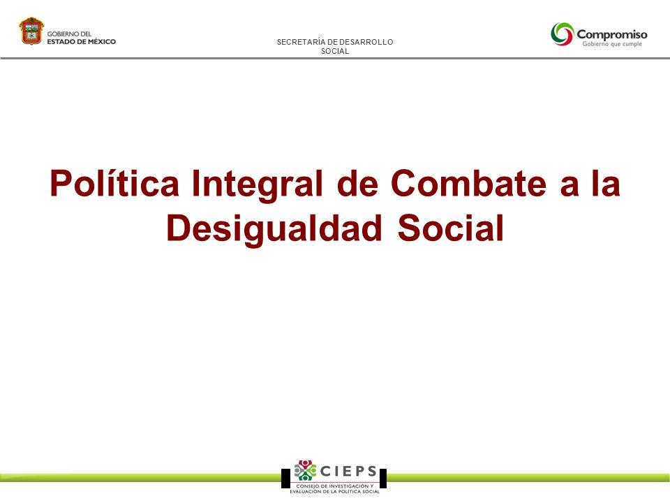 SECRETARÍA DE DESARROLLO SOCIAL Política Integral de Combate a la Desigualdad Social