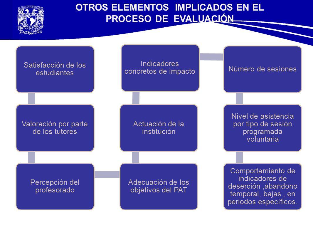 OTROS ELEMENTOS IMPLICADOS EN EL PROCESO DE EVALUACIÓN