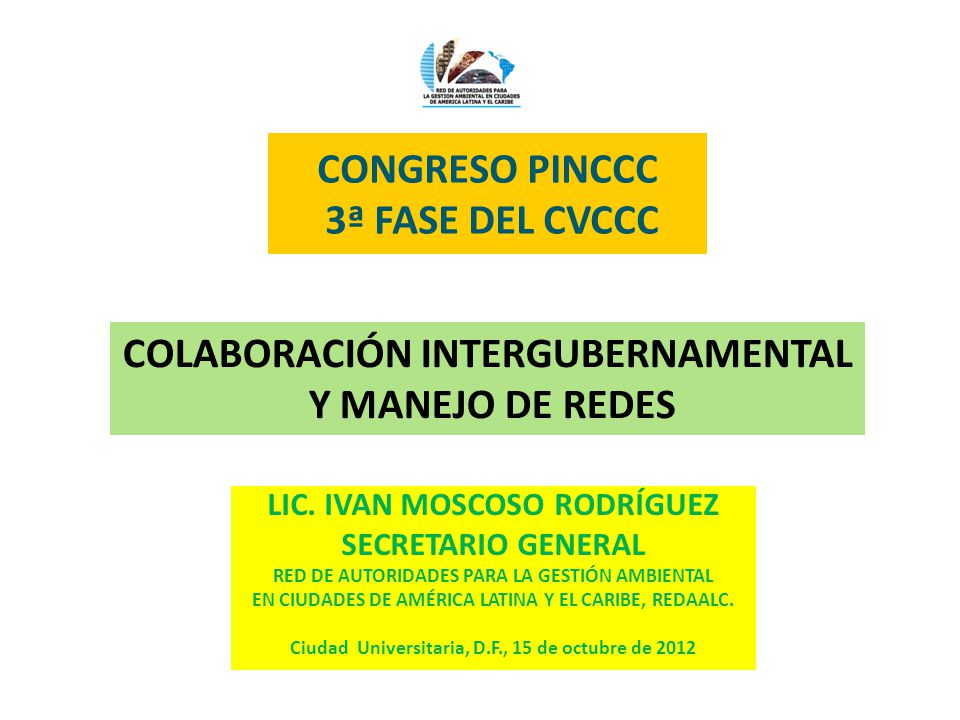 CONGRESO PINCCC 3ª FASE DEL CVCCC LIC.