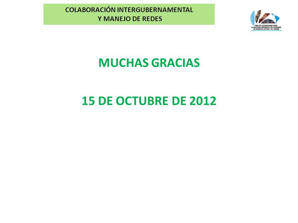 MUCHAS GRACIAS 15 DE OCTUBRE DE 2012