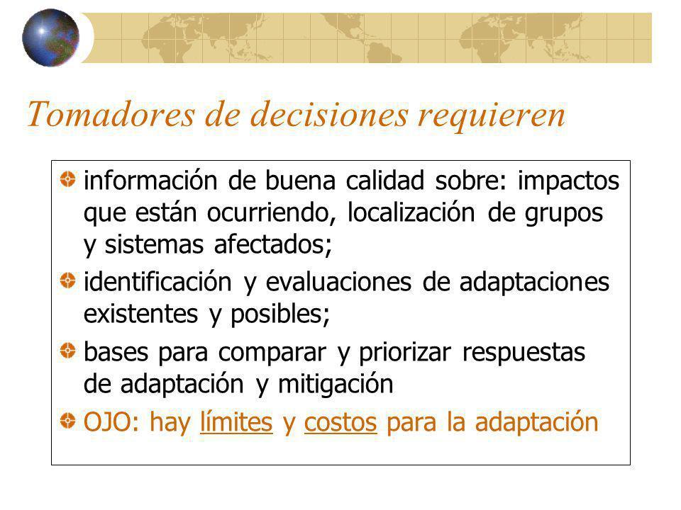 Método: Involucrar actores clave Aumentar capacidad adaptativa 1.