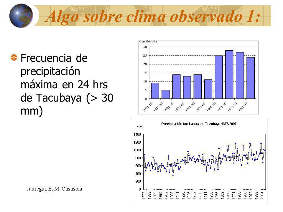 Algo sobre clima observado 1: Frecuencia de precipitación máxima en 24 hrs de Tacubaya (> 30 mm) Jáuregui, E, M.