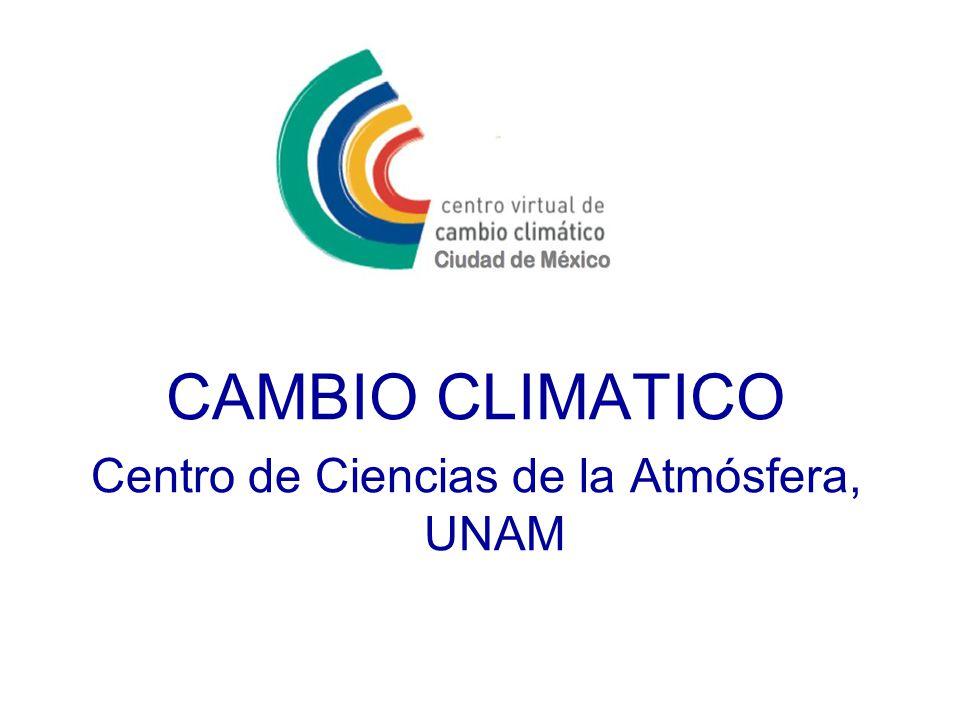 CAMBIO CLIMATICO Centro de Ciencias de la Atmósfera, UNAM