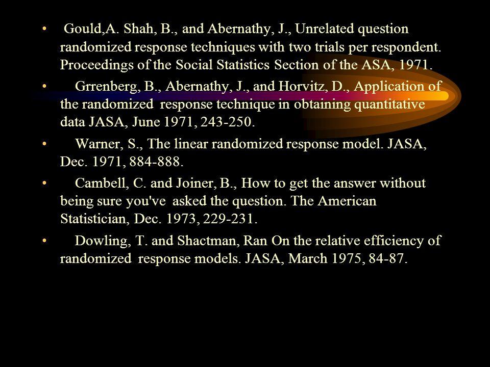 Bibliografía De la Vega Sergio, Vera Ramón Modelo de respuesta aleatorizada para una doble clasificación sensitiva. Tesis Actuario 1976 Zellner, A. An
