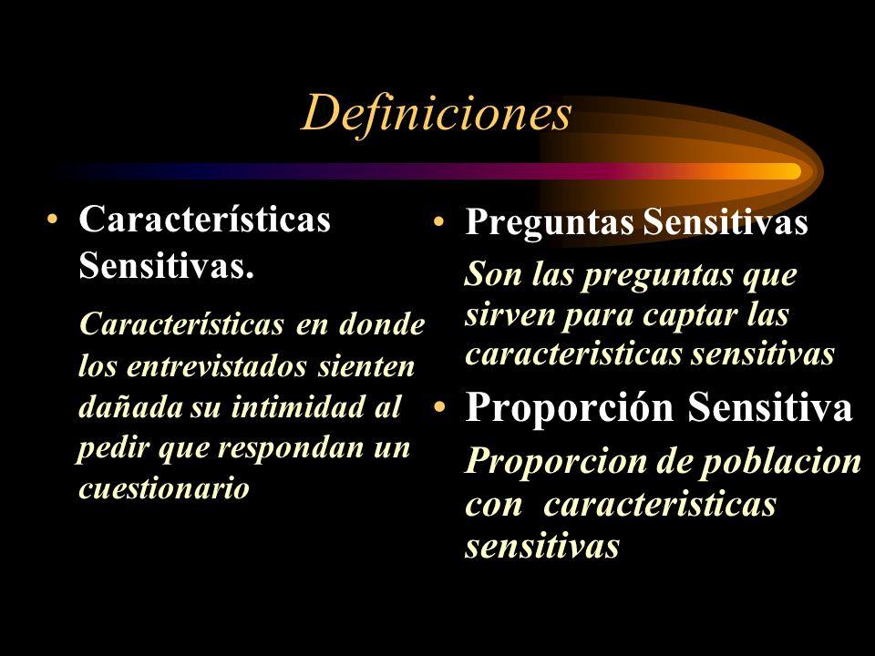 Definiciones Características Sensitivas.