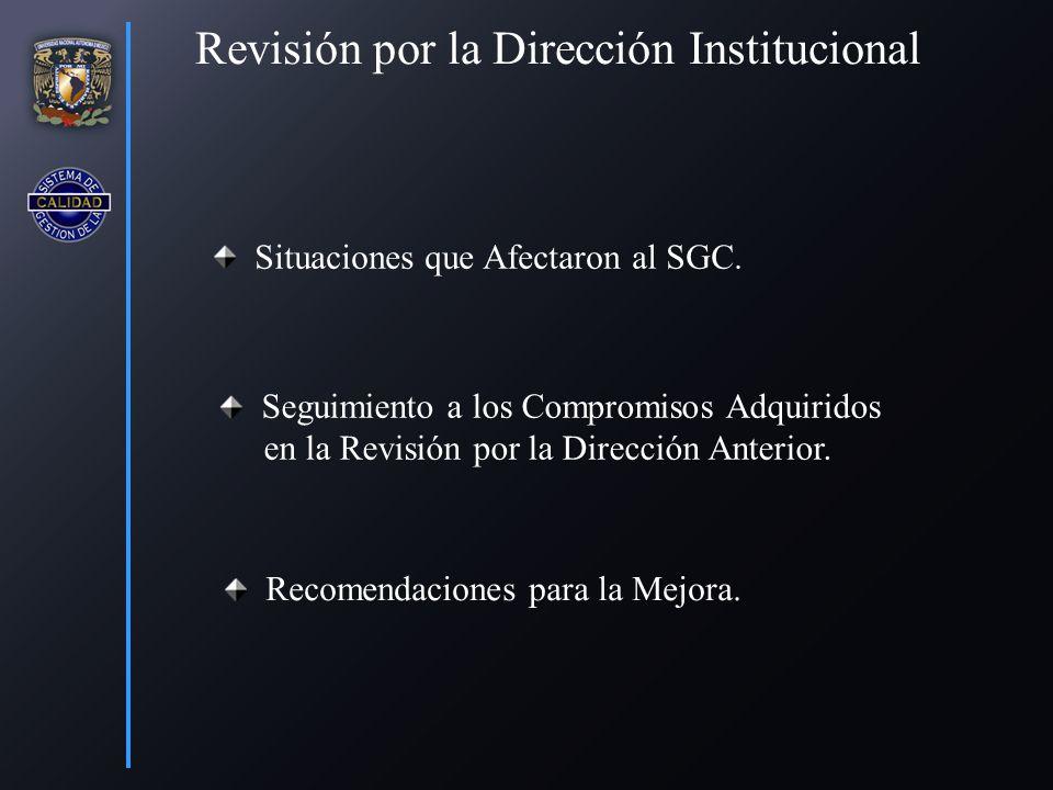 Situaciones que Afectaron al SGC.