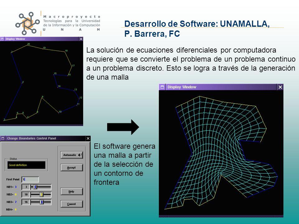 Desarrollo de Software: UNAMALLA, P. Barrera, FC La solución de ecuaciones diferenciales por computadora requiere que se convierte el problema de un p