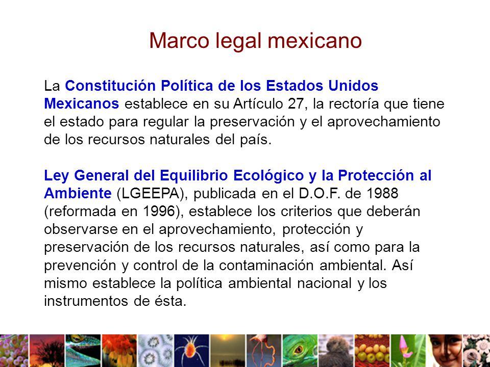 La Ley General de Vida Silvestre (LGVS) tiene como objetivo establecer la concurrencia del Gobierno Federal, de los gobiernos de los Estados y de los Municipios relativa a la conservación y aprovechamiento sustentable de la vida silvestre y su hábitat en el territorio mexicano y en las zonas en donde la Nación ejerce su jurisdicción.