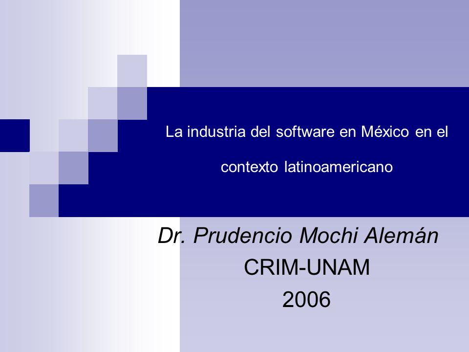La industria del software en México en el contexto latinoamericano Dr.
