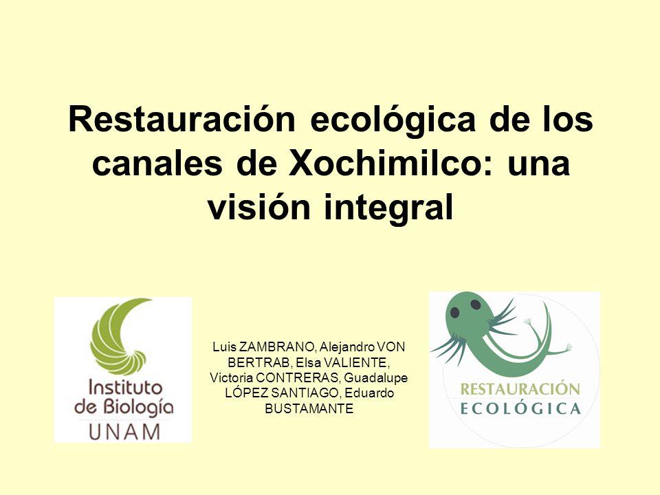 Restauración ecológica de los canales de Xochimilco: una visión integral Luis ZAMBRANO, Alejandro VON BERTRAB, Elsa VALIENTE, Victoria CONTRERAS, Guad