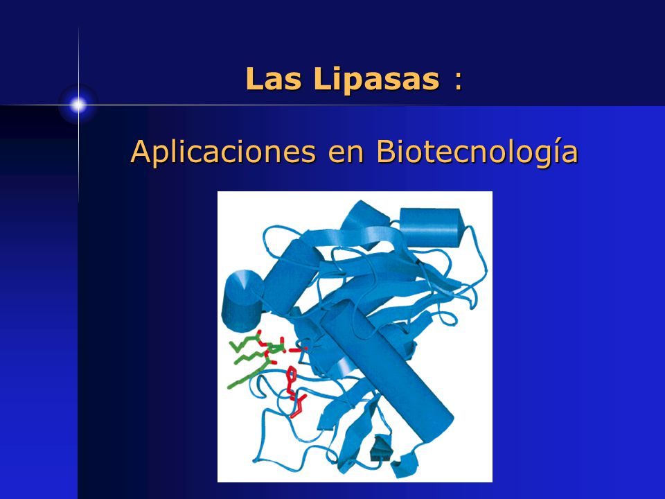Las Lipasas : Aplicaciones en Biotecnología