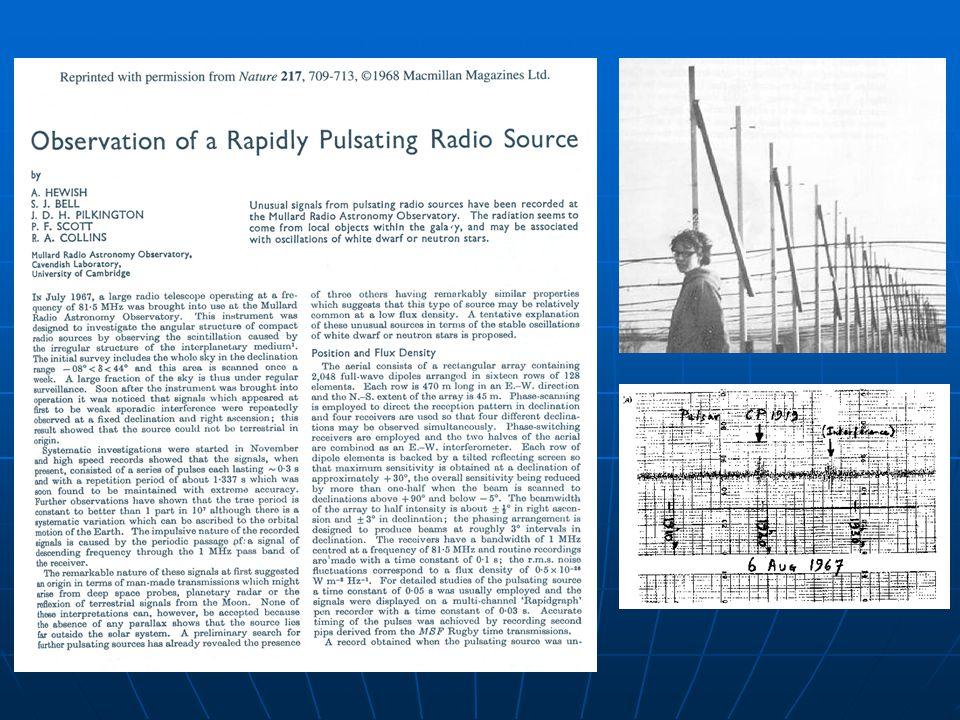 1993: Russell A. Hulse y Joseph H. Taylor Jr. Descubrimiento del pulsar binario