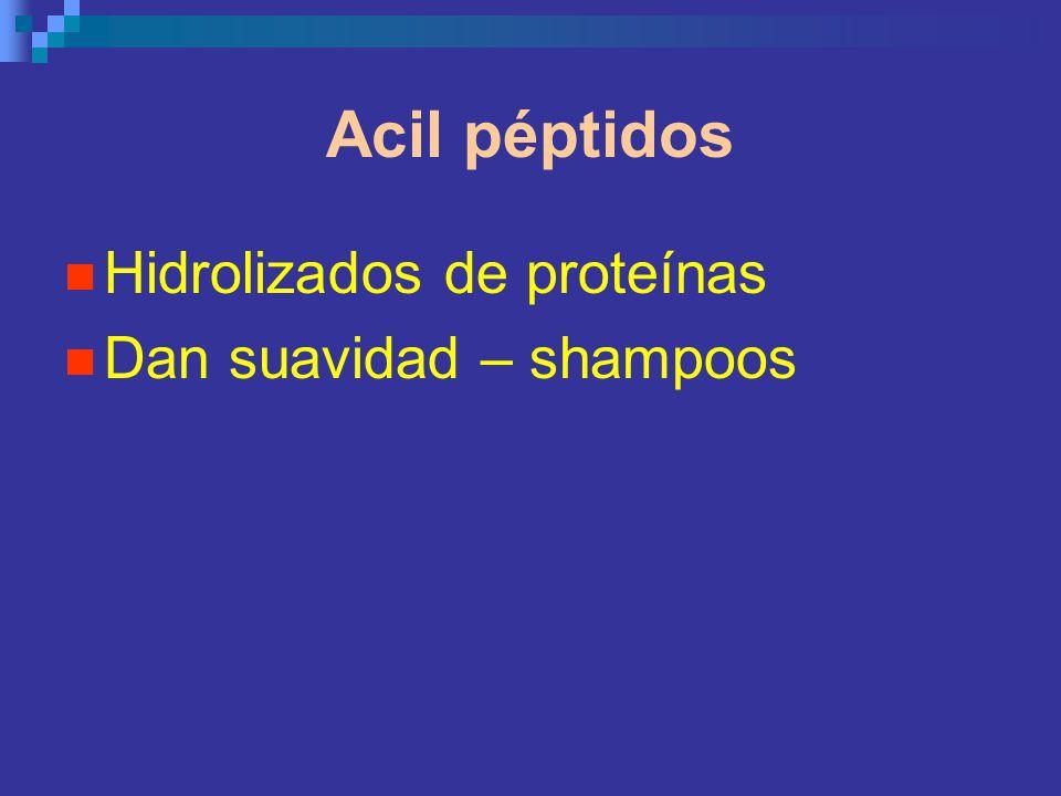 Acil péptidos Hidrolizados de proteínas Dan suavidad – shampoos