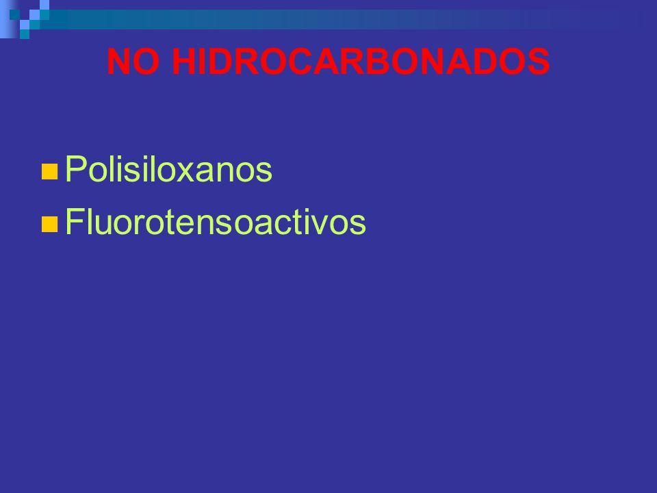 NO HIDROCARBONADOS Polisiloxanos Fluorotensoactivos